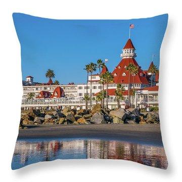 The Hotel Del Coronado San Diego Throw Pillow