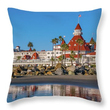 The Hotel Del Coronado San Diego Throw Pillow