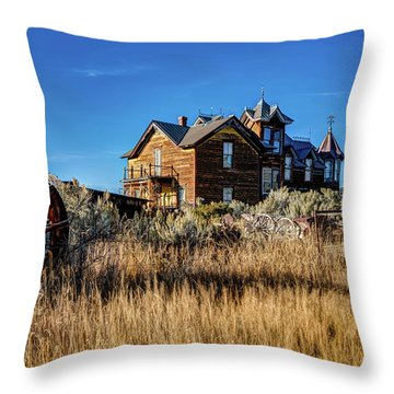 Throw Pillow featuring the photograph The House by Pete Federico