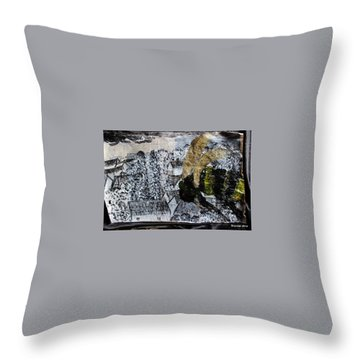 The Insects Watched Sensing They Were Next Throw Pillow