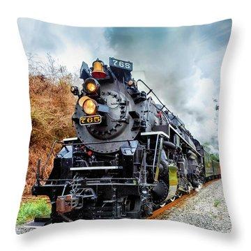 The Iron Horse  Throw Pillow