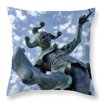 The Jester In Stratford Throw Pillow