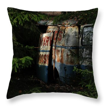 The Junk Yard Throw Pillow
