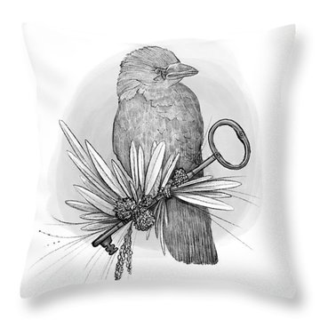 The Keeper Of The Key Throw Pillow