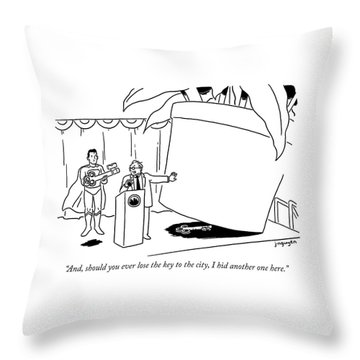 The Key To The City Throw Pillow