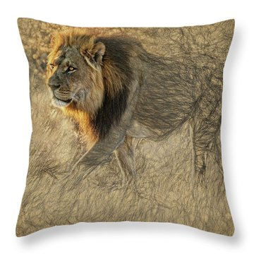The King Stalks Throw Pillow