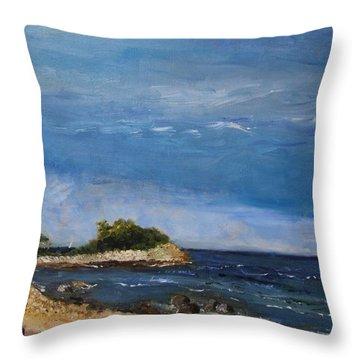 The Knob, Falmouth Throw Pillow