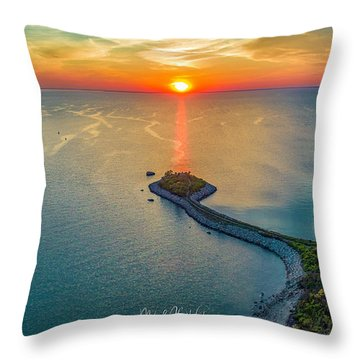The Last Ray Throw Pillow