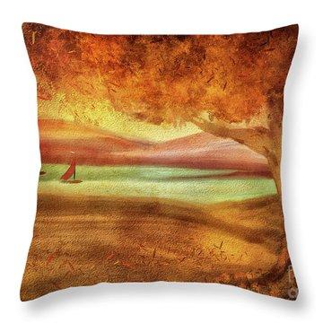 The Last Sail Of The Season  Throw Pillow