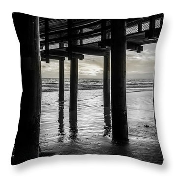 The Light Downunder - B And W Throw Pillow