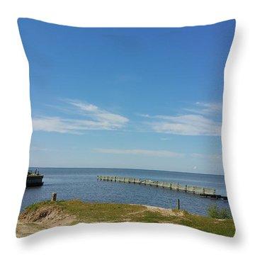 The Lighthouse Biloxi Ms Throw Pillow