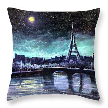 The Lights Of Paris Throw Pillow