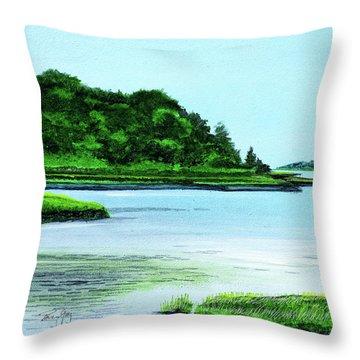 The Little River Gloucester, Ma Throw Pillow