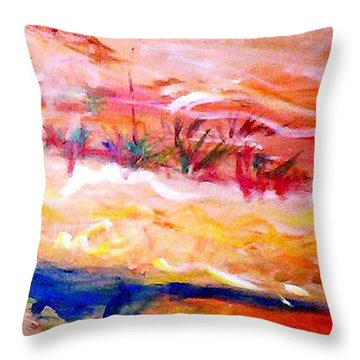 The Living Dunes Throw Pillow