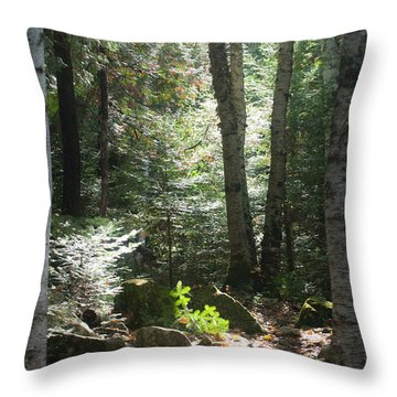 Throw Pillow featuring the photograph The Living Forest by Carl Young