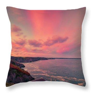The Lizard Point Sunset Throw Pillow