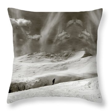 Throw Pillow featuring the photograph The Lone Boarder - Duochrome by Wayne King