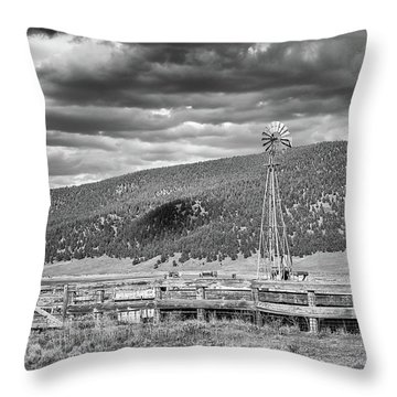 The Lonely Windmill Throw Pillow