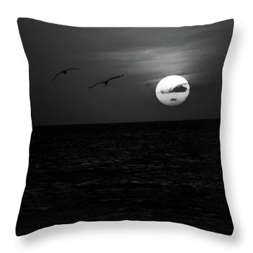 The Long Flight Throw Pillow
