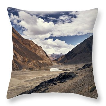 Throw Pillow featuring the photograph The Long Journey by Whitney Goodey
