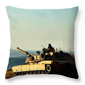 The Long Road Home Throw Pillow