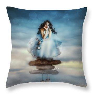 The Longest Delay Throw Pillow