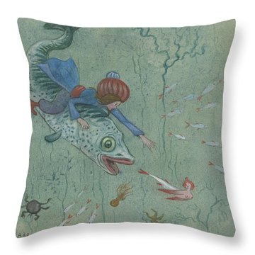Throw Pillow featuring the photograph The Lord Of The Wonderful Bird by Ivar Arosenius