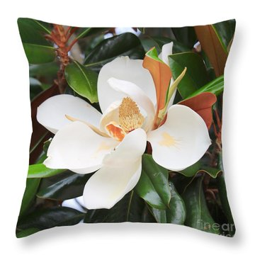 The Loveliest Magnolia Throw Pillow