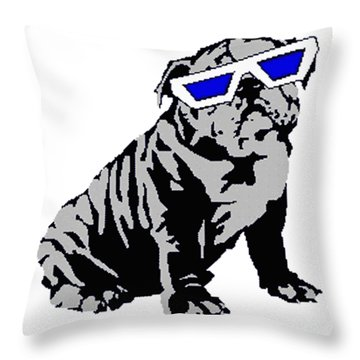 The Lucky Puppy Throw Pillow