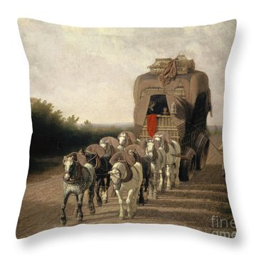 The Ludlow Carrier Coach, 1801  Throw Pillow