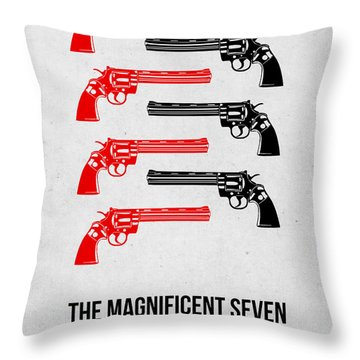 The Magnificent Seven Throw Pillow