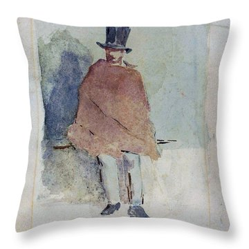 The Man In The Tall Hat - Digital Remastered Edition Throw Pillow