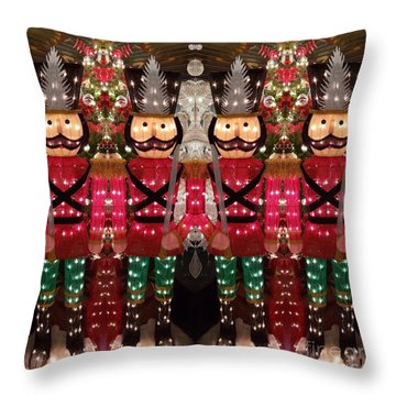 The March Of The Toy Soldiers Is On. Throw Pillow