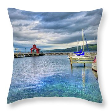 Throw Pillow featuring the photograph The Marina At Seneca Lake - Finger Lakes, New York by Lynn Bauer