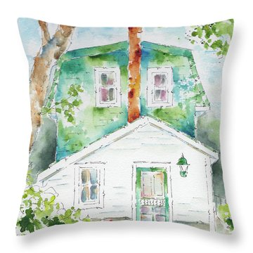 The Marr Residence Throw Pillow