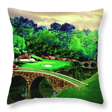 The Masters 12th Hole Throw Pillow