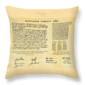 The Mayflower Compact  Throw Pillow