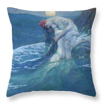 The Mermaid, 1910 Throw Pillow