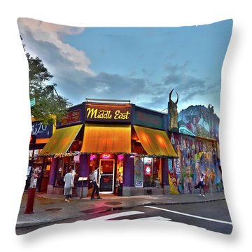 The Middle East In Cambridge Central Square Dusk Throw Pillow