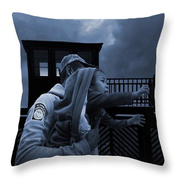 The Migrant Child Throw Pillow