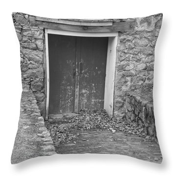 The Mill Door - Waterloo Village Throw Pillow