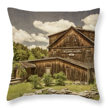 Throw Pillow featuring the photograph The Mill Tavern by Guy Whiteley