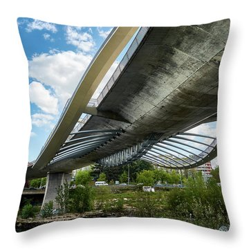 The Millennium Bridge From Below Throw Pillow