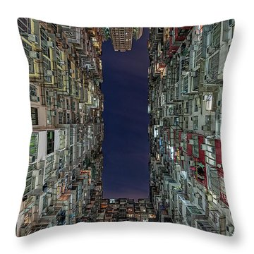 The Montane Mansion Throw Pillow