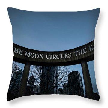 Throw Pillow featuring the photograph The Moon Circle by Juan Contreras