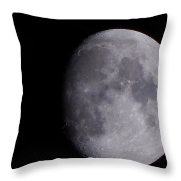 Throw Pillow featuring the photograph The Moon by Lukas Miller