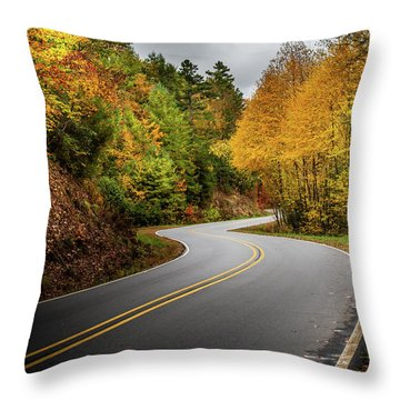 Throw Pillow featuring the photograph The Mountain Road by Chrystal Mimbs