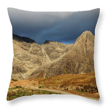 The Mountains Of Glenbrittle Throw Pillow
