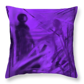 The Mystery Outside My Window Throw Pillow
