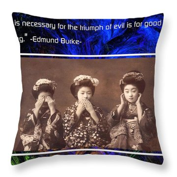 The Mystic Circle Inspirational Series One Five Throw Pillow